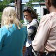 Exclusif - La princesse Stéphanie de Monaco a visité un centre de soins et de réinsertion de l'association Housing Works à Brooklyn à l'occasion de son déplacement à New York pour une réunion de l'ONU, le 8 juin 2016, sur l'éradication du sida d'ici à 2030 © F.Nebinger / Palais Princier / Pool restreint Monaco / Bestimage - Crystal - Visual
