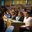 Exclusif - La princesse Stéphanie de Monaco, ambassadrice d'ONUSIDA depuis 2006, a participé le 8 juin 2016 à New York, au siège des Nations unies, à une réunion sur le thème de l'éradication du VIH/SIDA à l'horizon 2030. © F.Nebinger-N.Saussier / Palais Princier / Pool restreint Monaco / Bestimage - Crystal - Visual