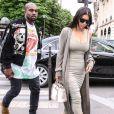 Kim Kardashian et son mari Kanye West à Paris, le 13 juin 2016.