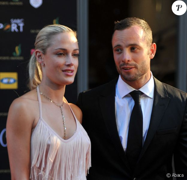 Oscar Pistorius et Reeva Steenkamp aux Feather Awards le 4 novembre 2012 à Johannesburg