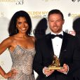 """Karla Cheatham-Mosley, Jacob Young, Jacqueline MacInnes Wood (Amour, Gloire et Beautél) ont reçu une nymphe dans la catégorie The best telenovelas / Soap Operas - Cérémonie de remise des prix des """"Golden Nymph Awards"""" lors du 55ème Festival de Télévision de Monte Carlo le 18 juin 2015."""