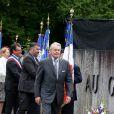 Alain Delon participe aux commémorations du 76e anniversaire de l'Appel du 18 juin prononcé par le Général de Gaulle en 1940 à Colombey-les-deux-Eglises, le 18 Juin 2016. © Dominique Jacovides/Bestimage French