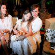 Alessandra Ambrosio, Milla Jovovich et sa fille Ever Gabo Anderson - Défilé Marc Cain (collection printemps-été 2017) au City Cube Panorama Bar. Berlin, le 28 juin 2016.