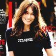 """Carla Bruni-Sarkozy en couverture du magazine """"ELLE"""", en kiosques le 1er juillet 2016."""