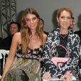 Bianca Brandolini d'Adda et Céline Dion-Défilé Giambattista Valli (collection haute couture automne-hiver 2016-2017)au Grand Palais. Paris, le 4 juillet 2016.