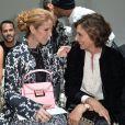 Bianca Brandolini d'Adda, Céline Dion et Inès de La Fressange-Défilé Giambattista Valli (collection haute couture automne-hiver 2016-2017)au Grand Palais. Paris, le 4 juillet 2016.