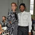 Céline Dion et Law Roach (le nouveau styliste de Céline Dion)-Défilé Giambattista Valli (collection haute couture automne-hiver 2016-2017)au Grand Palais. Paris, le 4 juillet 2016.