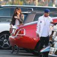 Kylie Jenner et son ex compagnon Tyga arrivent à la première du clip de Kanye West 'Famous' à Los Angeles le 24 juin 2016.