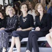 Fashion Week : Isabelle Huppert et Cate Blanchett, studieuses pour Armani