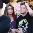 Paris Jackson et son chéri Chester Castellaw dans les rues de Calabasas, Los Angeles, le 16 mai 2015