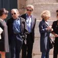 Jean-Pierre Kalfon- Obsèques du comédien et parolier Roger Dumas en l'église Saint-Roch à Paris le 7 juillet 2016.