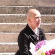 La femme de Roger Dumas- Obsèques du comédien et parolier Roger Dumas en l'église Saint-Roch à Paris le 7 juillet 2016.