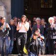 Obsèques du comédien parolier Roger Dumas en l'église Saint-Roch à Paris le 7 juillet 2016