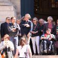 Obsèques du comédien parolier Roger Dumas en l'église Saint-Roch à Paris le 7 juillet 2016.