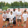"""Clément Verzi (The Voice 5) - People à la journée de l'association """"Enfant Star & Match"""" au Tennis de la Roseraie à Antibes le 8 juillet 2016."""
