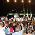 """Axel Bauer, Tex, Dani Lary, Véronique De Villèle - Concert lors de la journée de l'association """"Enfant Star & Match"""" à la Pinède de Juan Les Pins le 8 juillet 2016."""