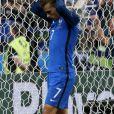 Déception d'Antoine Griezmann après la défaite de l'équipe de France contre le Portugal, en finale de l'EURO 2016, le 10 juillet 2016
