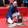 Pitbull (Armando Christian Perez) inaugure son étoile sur le Walk Of Fame à Hollywood. Los Angeles, le 15 juillet 2016.
