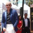 Pitbull (Armando Christian Perez)inaugure son étoile sur le Walk Of Fame à Hollywood. Los Angeles, le 15 juillet 2016.