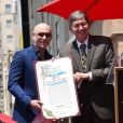 Pitbull (Armando Christian Perez) et Leron Gubler -Pitbull (Armando Christian Perez) inaugure son étoile sur le Walk Of Fame à Hollywood. Los Angeles, le 15 juillet 2016.