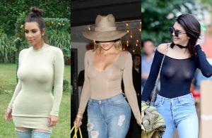 Kim et Khloé Kardashian: Modeuses canon sans soutien-gorge, comme Kendall Jenner