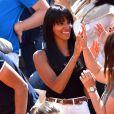 La chanteuse Shy'm était présente au Monte Carlo Country Club pour le Monte-Carlo Rolex Masters de tennis 2016 à Roquebrune Cap Martin le 13 avril 2016 pour soutenir son compagnon le tennisman français Benoit Paire
