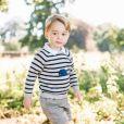 Le prince George de Cambridge, fils du prince William et de Kate Middleton, photographié par Matt Porteous dans le jardin d'Anmer Hall mi-juillet 2016. Portrait officiel diffusé le 22 juillet 2016 pour son 3e anniversaire. © Matt Porteous / Duc et duchesse de Cambridge, via Abaca