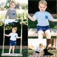 Le prince George de Cambridge, fils du prince William et de Kate Middleton, a été photographié par Matt Porteous dans le jardin d'Anmer Hall mi-juillet 2016, à l'occasion de son 3e anniversaire le 22 juillet 2016. © Matt Porteous / Duc et duchesse de Cambridge, via Abaca