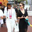 Barbara Palvin et Gabrielle Union au 74ème Grand Prix de Formule 1 de Monaco, le 29 mai 2016.