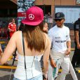 Barbara Palvin et Lewis Hamilton lors du Grand Prix de Formule 1 de Monaco, le 28 mai 2016. © Bruno Bebert/Bestimage