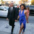 Le DJ David Guetta et sa compagne Jessica Ledon - Arrivées au mariage d'Isabela Rangel et David Grutman à Miami le 23 avril 2016.