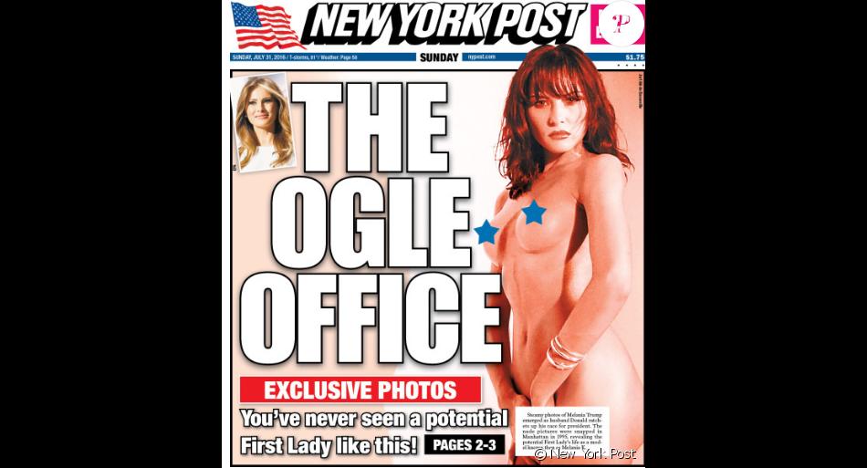 Melania Trump en Une du New York Post photographiée par Alé de Basseville