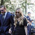 Pierre Casiraghi accompagne sa femme Beatrice Borromeo aux obsèques de sa grand-mère Marta Marzotto en l'église Sant'Angelo à Milan le 1er août 2016