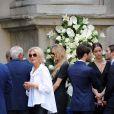Beatrice Borromeo aux obsèques de sa grand-mère Marta Marzotto en l'église Sant'Angelo à Milan le 1er août 2016