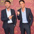 """Christophe Beaugrand and Adrien Lemaître - Cérémonie des """"Gold prix de la TNT 2016"""" au Théâtre Bobino à Paris le 6 juin 2016. © Perusseau/Veeren/Bestimage"""