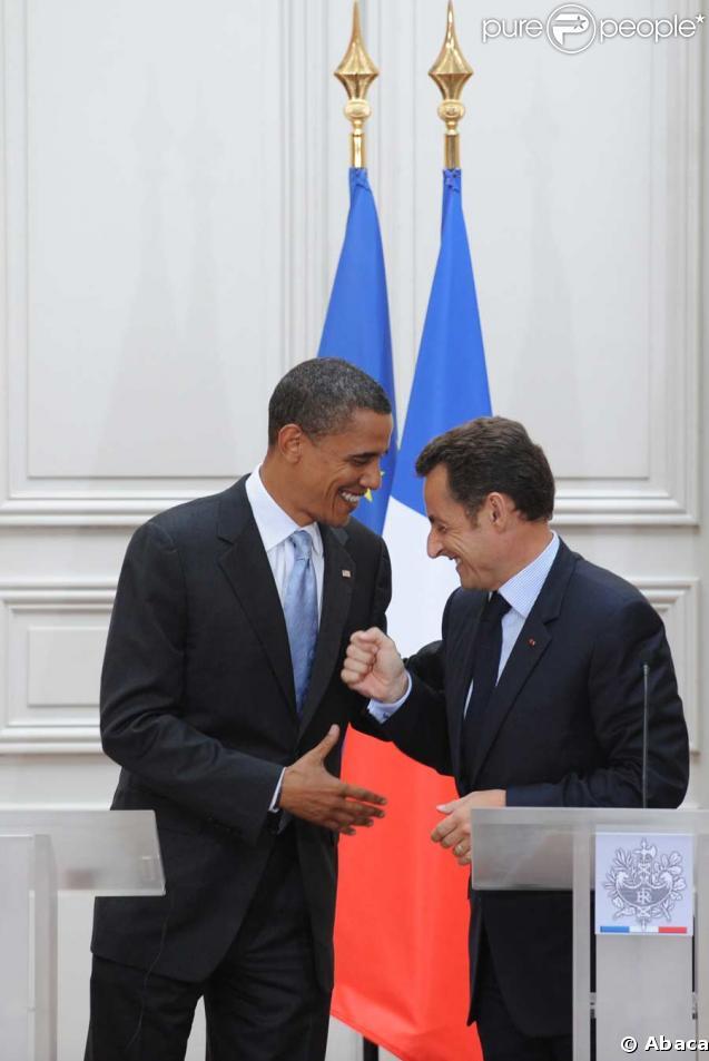 Nicolas Sarkozy et Barack Obama, en juillet 2008 à Paris
