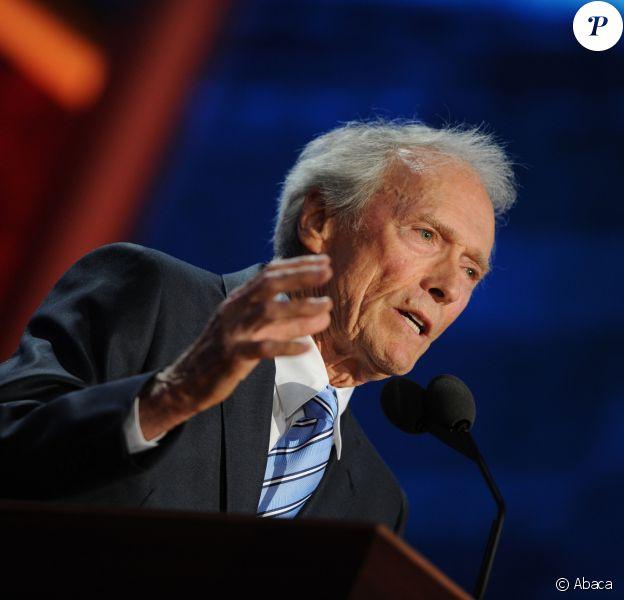 Clint Eastwood lors de la Republican National Convention au Tampa Bay Times Forum, le 30 août 2012.