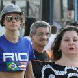 Alessandra Ambrosio et sa fille Anja à Rio de Janeiro, le 6 août 2016.