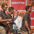 Pierre Casiraghi a reçu des mains du roi Felipe VI d'Espagne le trophée dans la catégorie propriétaire-armateur lors de la cérémonie de clôture de la 35e Copa del Rey MAPFRE, le 6 août 2016 à Palma de Majorque, dont il s'est classé 4e avec Malizia dans la catégorie GC32.