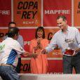 Le roi Felipe VI d'Espagne présidait la cérémonie de clôture de la 35e Copa del Rey MAPFRE, le 6 août 2016 à Palma de Majorque.
