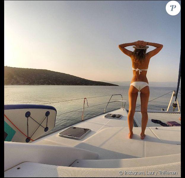 Laury Thilleman samedi 6 août en Grèce.