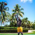 Paul Pogba joue au basket lors de ses vacances aux Etats-Unis, été 2016, photo Instagram.
