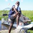 Paul Pogba dans les Everglades lors de ses vacances aux Etats-Unis, été 2016, photo Instagram.