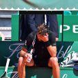Le tennisman français Benoît Paire a raté sa journée au Monte Carlo Country Club à Roquebrune Cap Martin le 14 avril 2016 malgré le soutient de sa fiancée la chanteuse Shy'm.