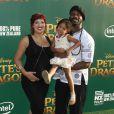 Marcus Henderson en famille à la première de Pete's Dragon au théâtre El Capitan à Hollywood, le 8 août 2016