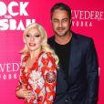 """La chanteuse Lady Gaga et son fiancé Taylor Kinney - Première de """"Rock The Kasbah"""" à New York, le 19 octobre 2015."""