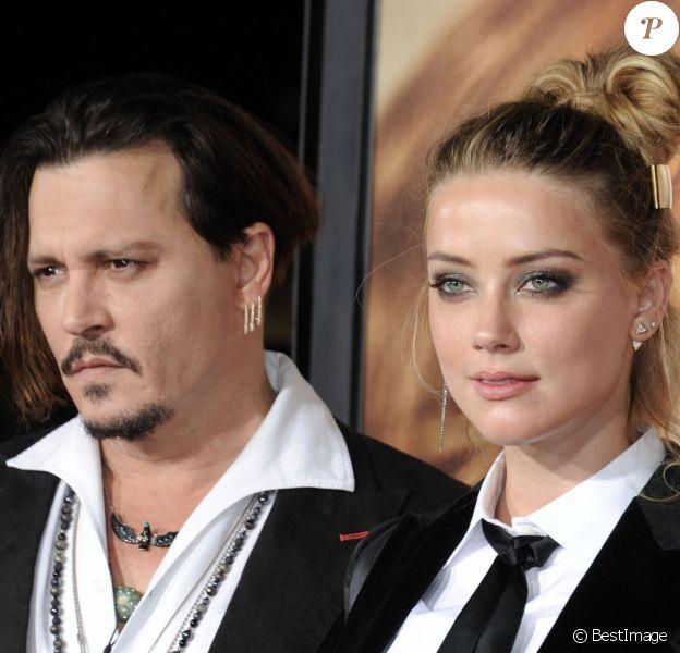 """Johnny Depp et Amber Heard à la première de """"The Danish Girl"""" à Los Angeles le 21 novembre 2015"""