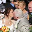 """MARIAGE RELIGIEUX DE THIERRY OLIVE DE """" L'AMOUR EST DANS LE PRE """". THIERRY OLIVE S' EST MARIE A L'EGLISE DE GAVRAY AVEC ANNIE DERAIN LE 14 SEPTEMBRE 2012."""