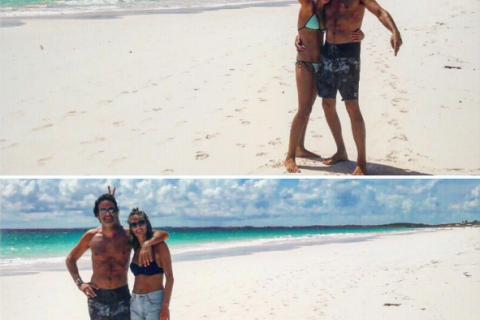 Anthony Delon : Papa aux anges avec Lou et Liv dans un décor de rêve