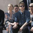 David Beckham, Kate Moss et Nikolai Von Bismarck au défilé de mode Louis Vuitton à Paris le 23 juin 2016. © Olivier Borde / Bestimage